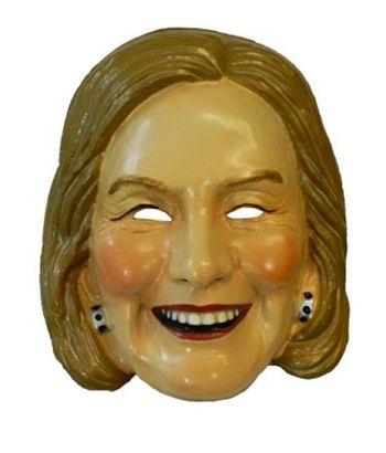 Hillary Clinton Mask Democrat Presidential Candidate Plastic Halloween Mask