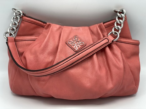 Simply Vera Wang Pink Leather Alicia Hobo Bag