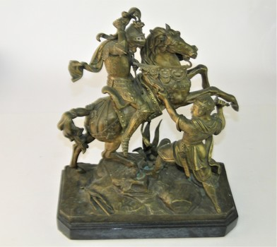 Bronze From c1840 Knight on Horseback