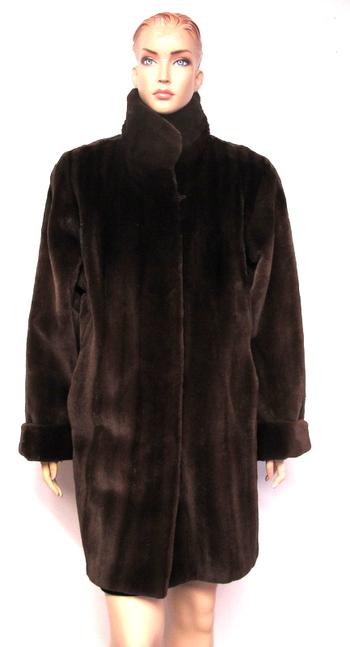 Sheared Mink Women's Reversible Coat- Size Large
