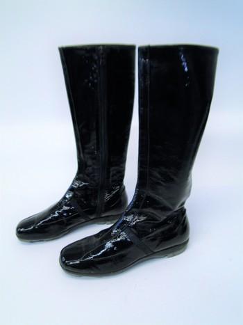 Prada Boots Black Patent Leather Sz 6