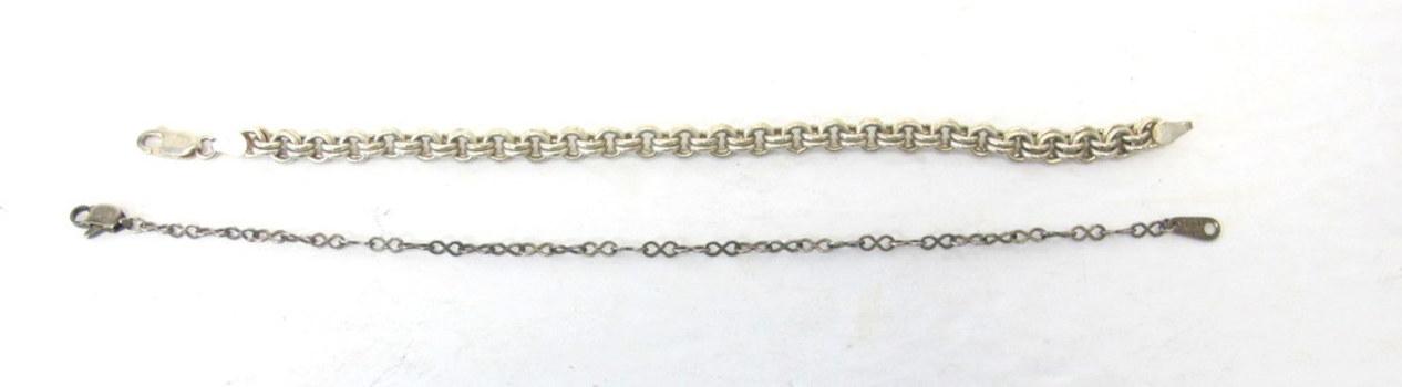 2 Vintage Sterling Silver Bracelets