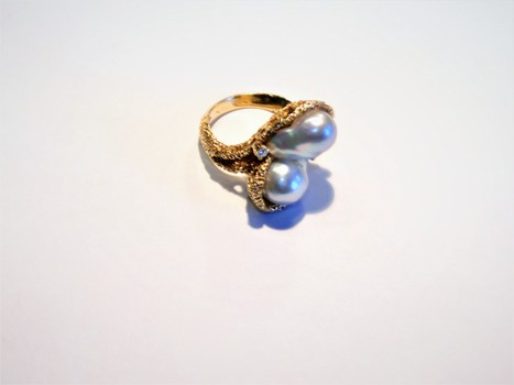 14 Kt Yellow Gold South Sea Pearl Ring Appraised $3,915.00