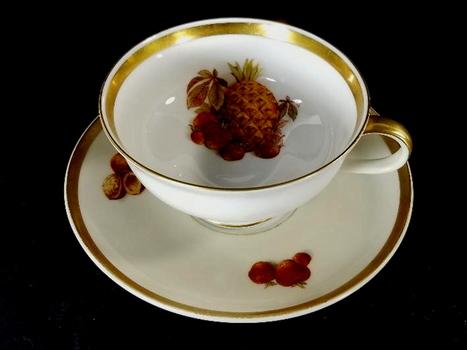 Vintage Bavaria Fine Bone China Tea Cup & Saucer