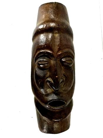 """20"""" Vintage Hand Carved Wooden Tribal Mask Hand"""