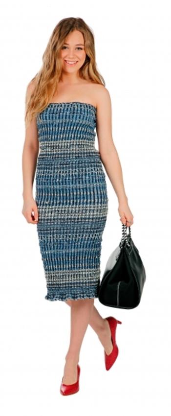 Hilary Macmillan Ladies Smocked Tube Dress, Size: Small, Retail: $160.00CAD