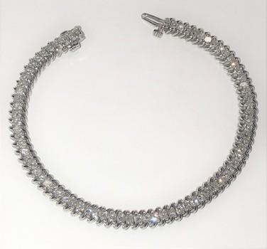 Diamond Tennis Bracelet 14 Kt Gold 3.00 Carats
