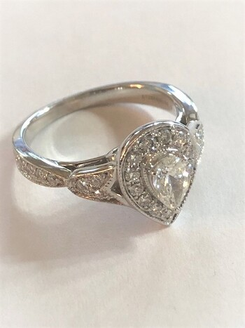 14Kt White Gold Diamond Ring 0.71 Carats Appraised $4,500.00