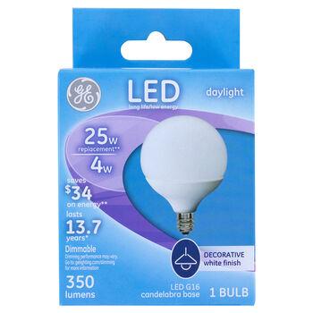 GE 6 GE LED G16 Globe Bulb