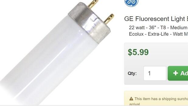 """GE 19 Fluorescent Light Bulb (72136) 22 watt - 36"""""""