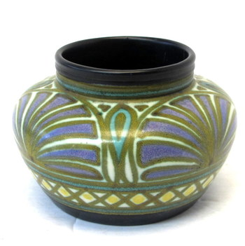 Vintage Gouda Pottery Small Container