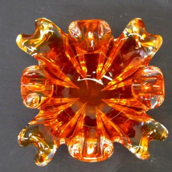Original Chantili Glass Art Ashtray- Circa 1960's