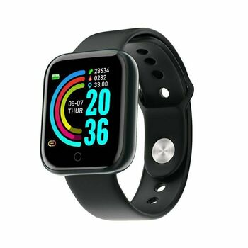 Smart Watch Waterproof Heart Rate Tracker Fitness Wristband for IOS Android - New Open Box