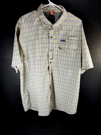 Wrangler Outdoor Regular Fit Mens Short Sleeve Button Down Shirt Size 2XL