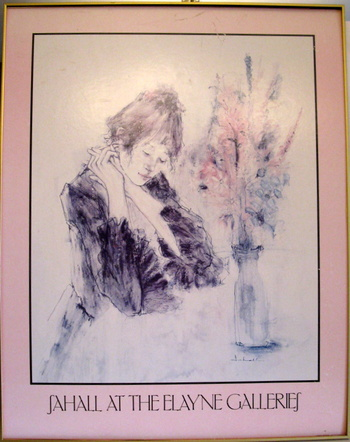 "Vintage Offset Lithograph- Susan Sahall "" Contemplation""/ ""Young Woman with Flowers""/""Afternoon Dreams"""