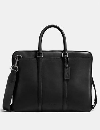 New Coach Metropolitan Slim Brief, BLK