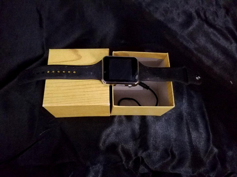 Smart Watch New Open Box Black Square Face