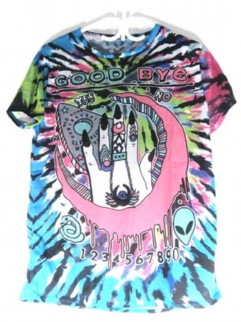 Ladies Psychedelic Good Bye T-Shirt L