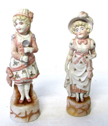 Vintage Hand Painted Bisque Figurines