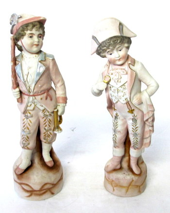 Vintage Hand Painted Bisque Figurines