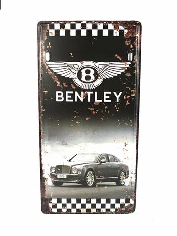 Bentley Metal License Plate