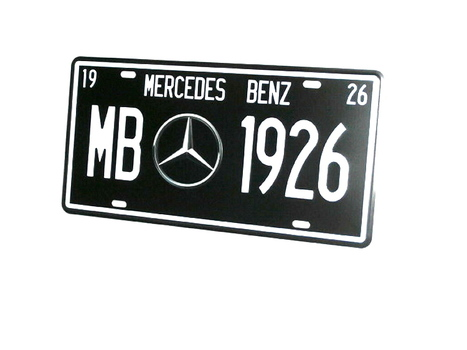 Mercedes Benz Metal License Plate