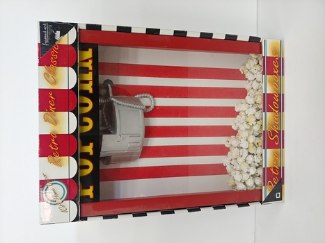 ICA Home Decor Vintage Popcorn Machine Retro Shadow Box