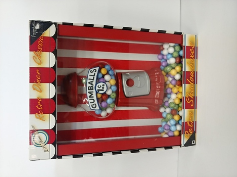 ICA Home Decor Vintage Gumball Machinex Retro Shadow Box
