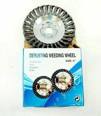 "Derusting Weeding Wheel 6"" Twisted Wire New Open Box"