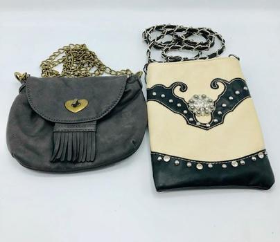 Rustic Couture Shoulder Bag Rhinestone Cowgirl Country Purse Plus American Rag Crossbody Handbag