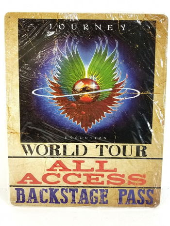 Journey Evolution World Tour All Access Backstage Pass Metal Sign