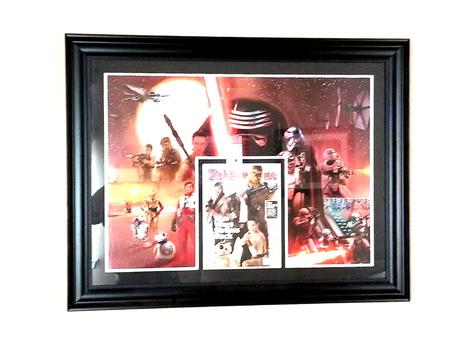 Large Rolling Stones Star Wars Laser Cut Framed Print