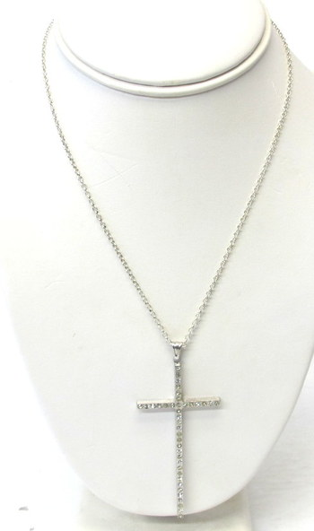 Vintage Sterling Silver Chain and Cross Pendant