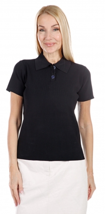 Hilary MacMillan Ladies Knit Polo, Colour: Black, Size: Small, Retail: $100.00 CAD