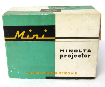 Vintage Minolta Mini Slide Projector with Case in its own Box
