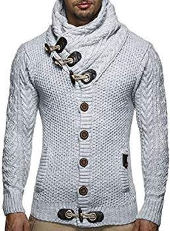 Mens Knit Sweater White Size S