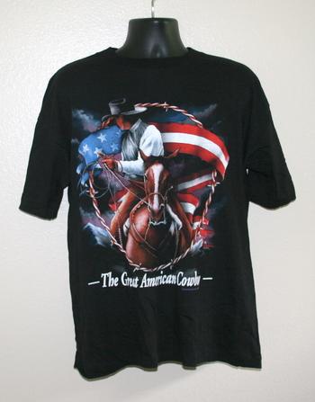 """Great American Cowboy"" T-Shirt - Large"