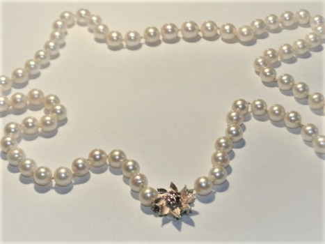 71 Pearls -  Necklace $2,740.00 Police Seized