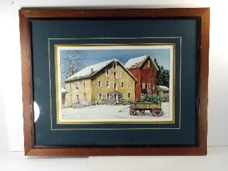 DAN CAMPANELLI - A Winter's Day - Fine Country Art Print in Wooden Frame