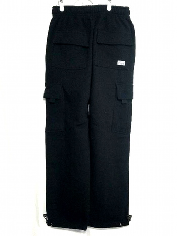 NWT Pro Club Men's Heavyweight Fleece Cargo Pants Black Size M