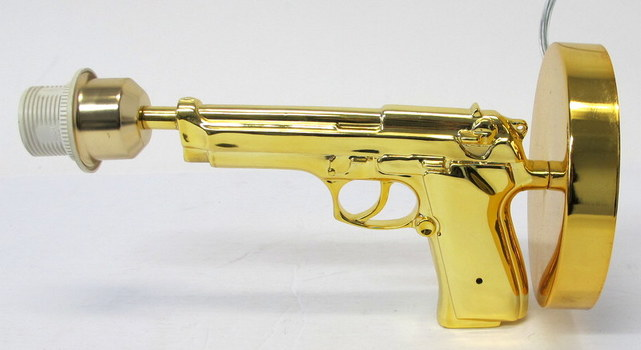 Gun Table Lamp Replica of Renown French Designer Philippe Starck