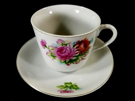 Vintage Japan Fine Bone China Tea Cup and Saucer