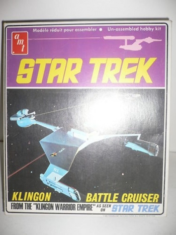 Star Trek Klingon Battle Cruiser AMT Model Vintage New in Box