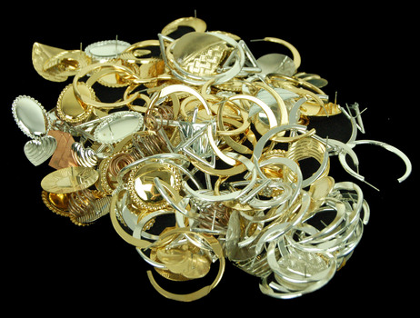 Gold and Silver Plated Jewelry Assorted 1 Pound