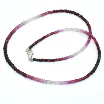 Sterling Silver Ruby Shaded Necklace Retail $1000.00