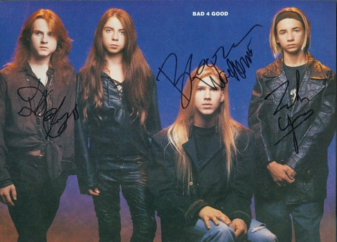 Bad4Good Glam Band 3 Members Signed Autographed 8x10 Photo w/coa $400 Retail