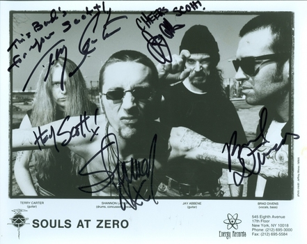 Souls at Zero American Heavy Metal Band Signed Autographed 8x10 Photo w/coa $400 Retail