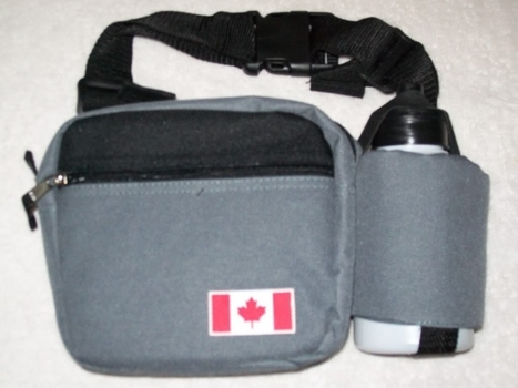 Fanny Pack Waist Bag with Water Bottle CASE/Lot of 12 Canada/Canadian FLAG NEW $360 Retail