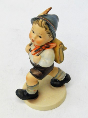 "Goebel MI Hummel W. Germany Figurine ""Boy with Backpack"""