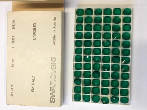 Swarovski 72 Pcs Emerald Original Austria 1960's